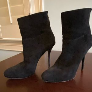 Jimmy Choo short boots, black Suede